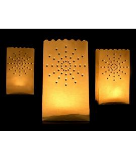 10 x Lanterne pour sol avec dessin étoile (15 x 9 x 26 cm)