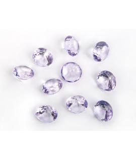 10 x diamant en plastique lilas (20 mm)