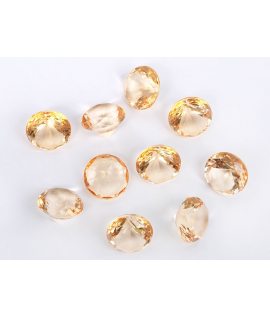 10 x diamant en plastique or (20 mm)