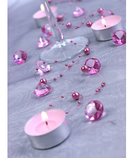 10 x diamant en plastique rose (20 mm)