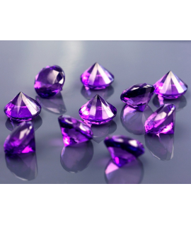 10 x diamant en plastique prune (20 mm)