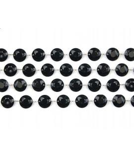 Guirlande de cristaux rond noir (1 m)