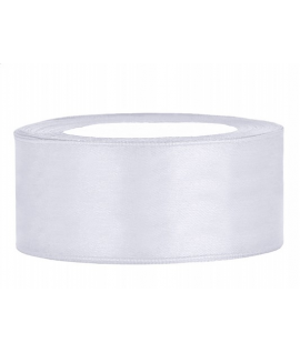 Ruban en satin blanc large (25 mm x 25 m)