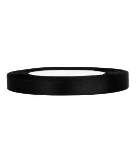 Ruban en satin noir (12 mm x 25 m)