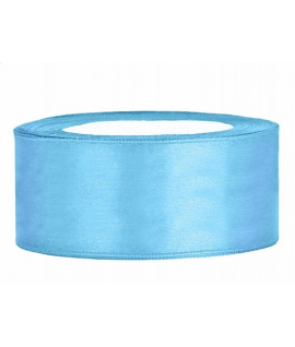 Ruban en satin bleu ciel large (25 mm x 25 m)