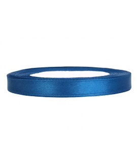 Ruban en satin bleu (12 mm x 25 m)
