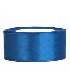 Ruban en satin bleu large (25 mm x 25 m)