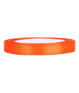 Ruban en satin orange (12 mm x 25 m)