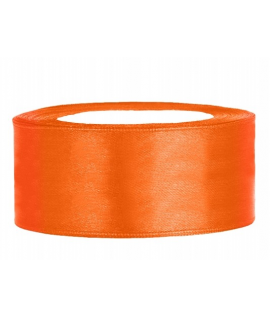 Ruban en satin orange large (25 mm x 25 m)
