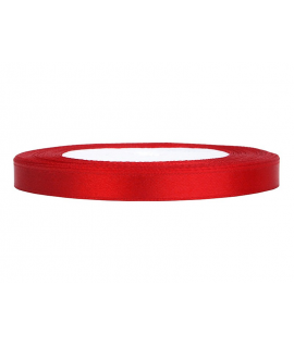Ruban en satin rouge (12 mm x 25 m)