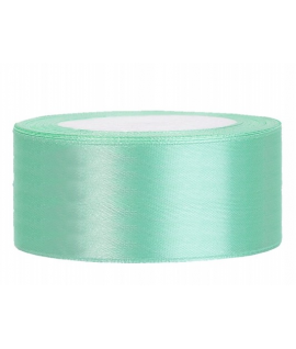 Ruban en satin menthe large (25 mm x 25 m)