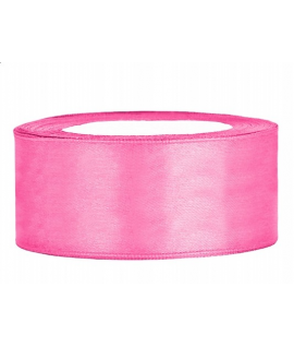 Ruban en satin rose large (25 mm x 25 m)