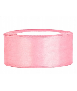 Ruban en satin rose clair large (25 mm x 25 m)