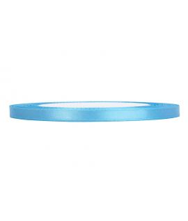 Ruban en satin bleu ciel fin (6 mm x 25 m)