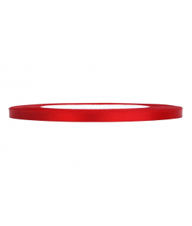 Ruban en satin rouge fin (6 mm x 25 m)
