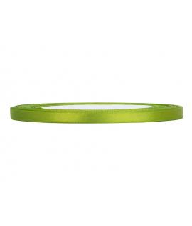 Ruban en satin vert pomme fin (6 mm x 25 m)