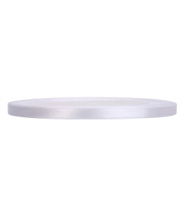 Ruban en satin blanc fin (6 mm x 25 m)