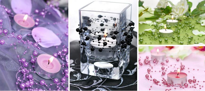 bougies chauffe plat pour d coration de table de mariage. Black Bedroom Furniture Sets. Home Design Ideas
