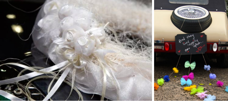kit pour d coration de voiture de mariage la f e d coration. Black Bedroom Furniture Sets. Home Design Ideas